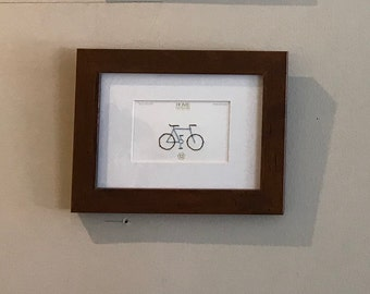 Minimalist Bicycles, Cycling Lovers - Mixed Media Hand Embroidered Paint Chips