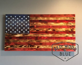 Wooden American flag, Wood American Flag, American flag art, rustic American flag, Birthday gift - Valentines day