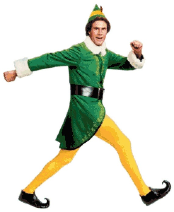 Will Ferrell Christmas Movie.Buddy The Elf Counted Cross Stitch Pattern Elf The Christmas Movie Inspired Cross Stitch Will Ferrell Holiday Pdf Download Pattern