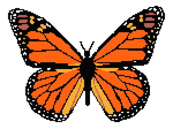Monarch Butterfly Counted Cross Stitch Pattern Butterfly Etsy