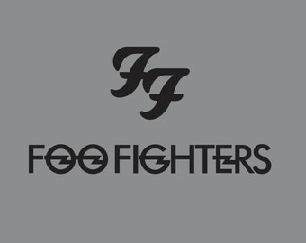 Foo Fighters Two Pack Vinyl Decal (Multiple Color & Size Options)