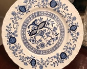 Wedgwood heritage blue onion bread and butter plate.
