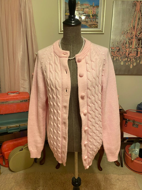 Vintage Anne Marie acrylic cardigan sweater size 4