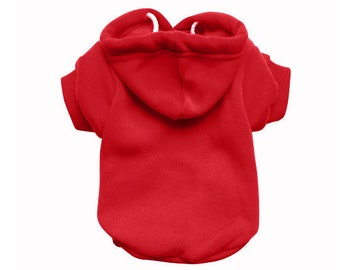 Red Dog Hoodie - Red Dog Sweater - Red Dog Jumper - Dog/Puppy Clothing