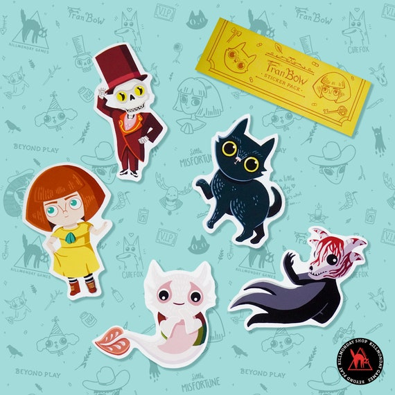 Fran Bow Cut-Out Stickers