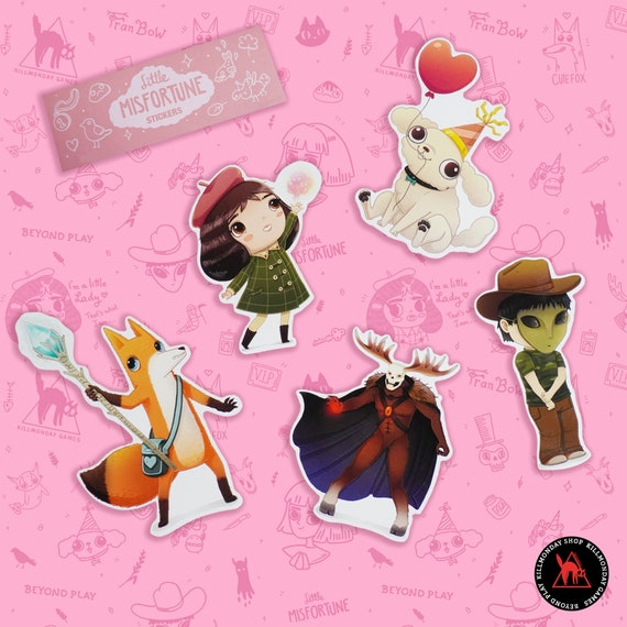 Character Stickers – Little Misfortune