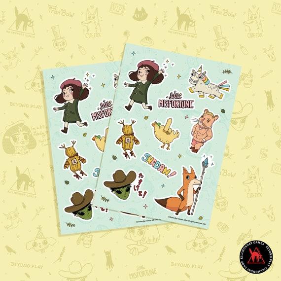Little Misfortune A5 Sticker Sheet