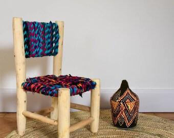 Petite chaise boucherouite