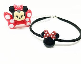 Mickey Mouse inspired chokers, choker, chokers, minnie chokers, disney, necklace, disney necklace, disney choker, mickey necklace