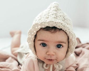 b11843830ae PATTERN  Isla Pixie Hat   Bonnet Sizes 0-5y Crochet Pattern PDF