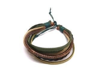 Khaki men's bracelet