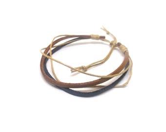 Adjustable unisex bracelet