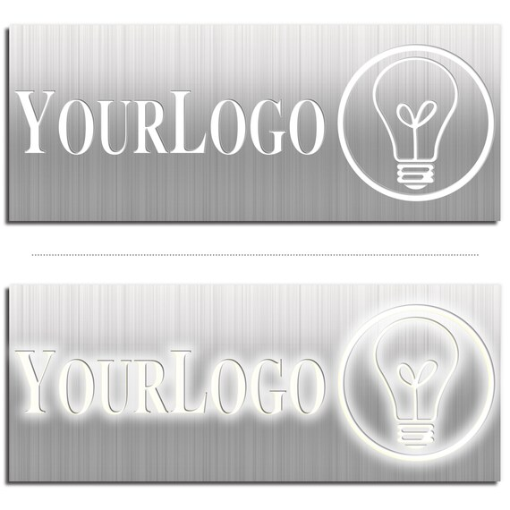 Rótulo retroiluminado señalización de logotipo que brilla   Etsy