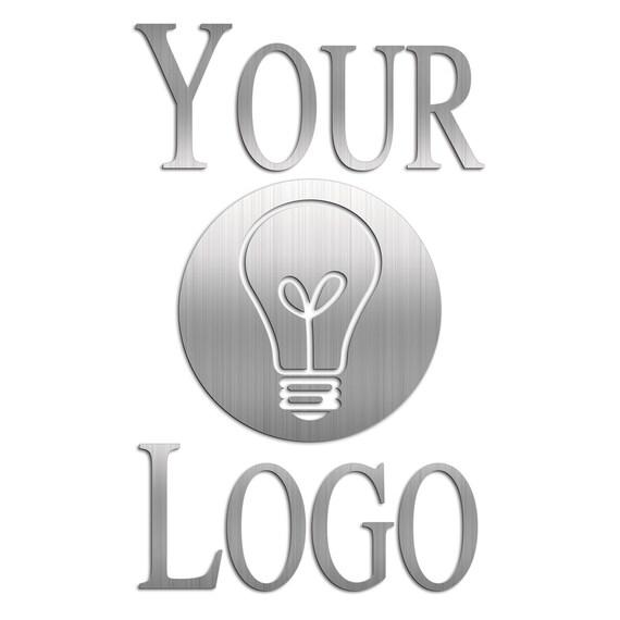 Logo metálico letrero de Metal personalizado Cut-Out poner | Etsy