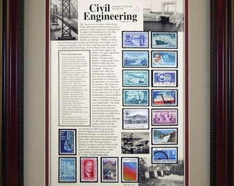 Civil Engineer 4204 - Personalized Framed Collectible (A Great Gift Idea)
