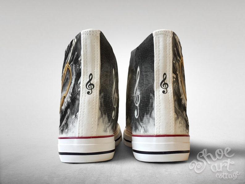 Treble Clef Sheet Music Custom Made Shoes Trumpet
