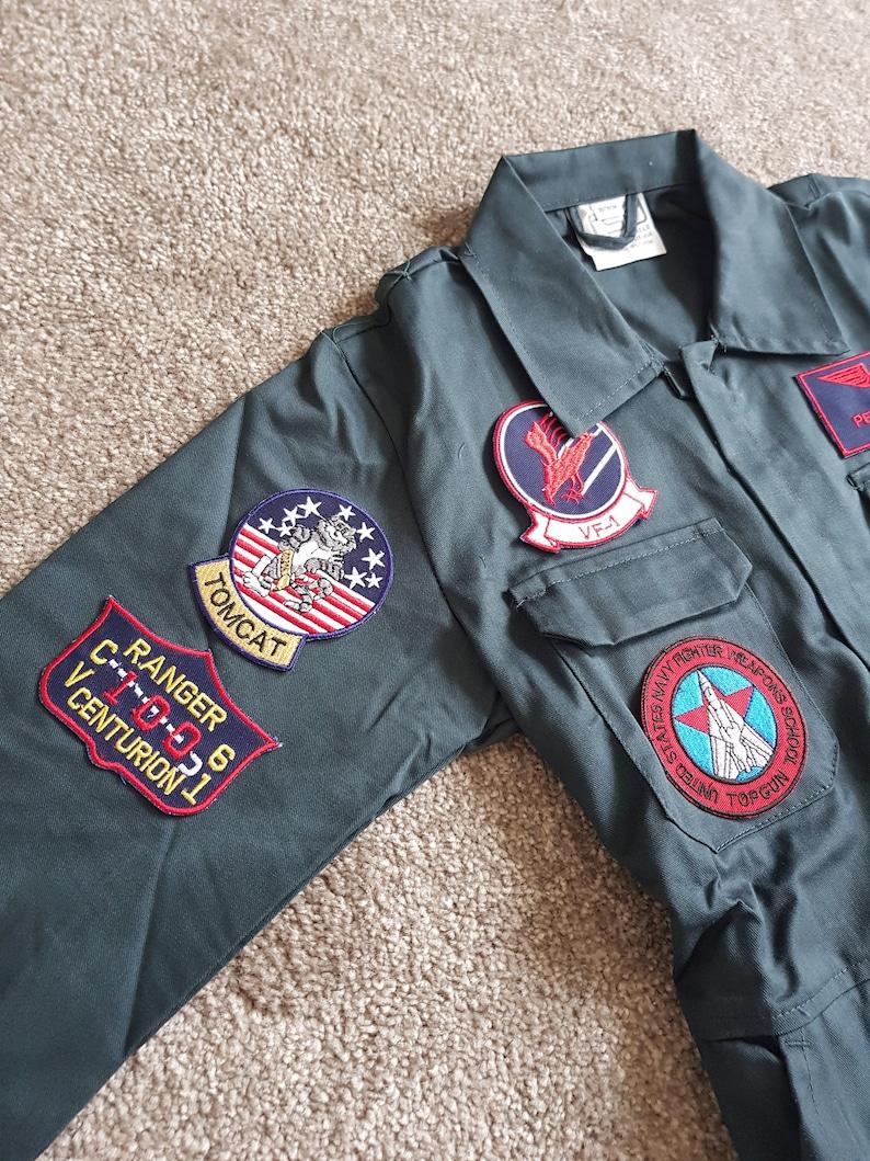 childs uniform cosplay Top Gun Kids Maverick Costume Outfit