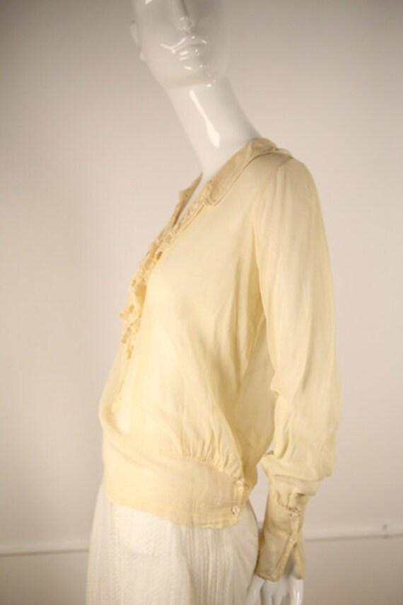 Edwardian Cotton Buttoned Blouse - image 2