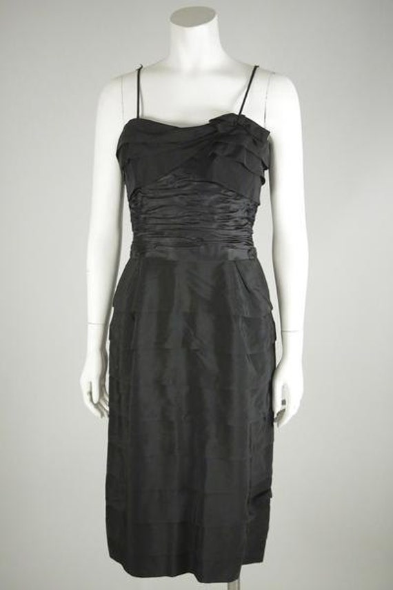 1940s Black Cocktail Dress