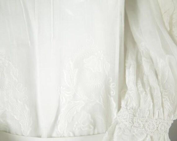 Edwardian Cotton Wedding Blouse - image 5