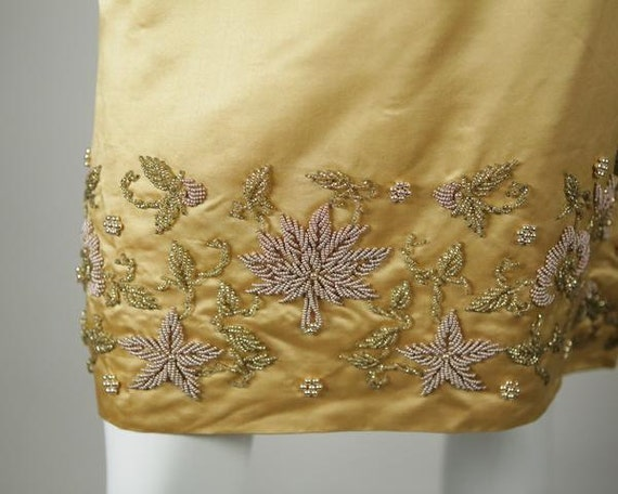1960s Beaded Satin Two-Piece - image 5