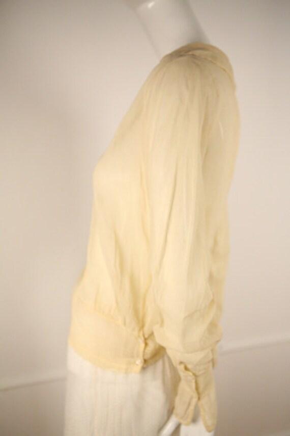 Edwardian Cotton Buttoned Blouse - image 3