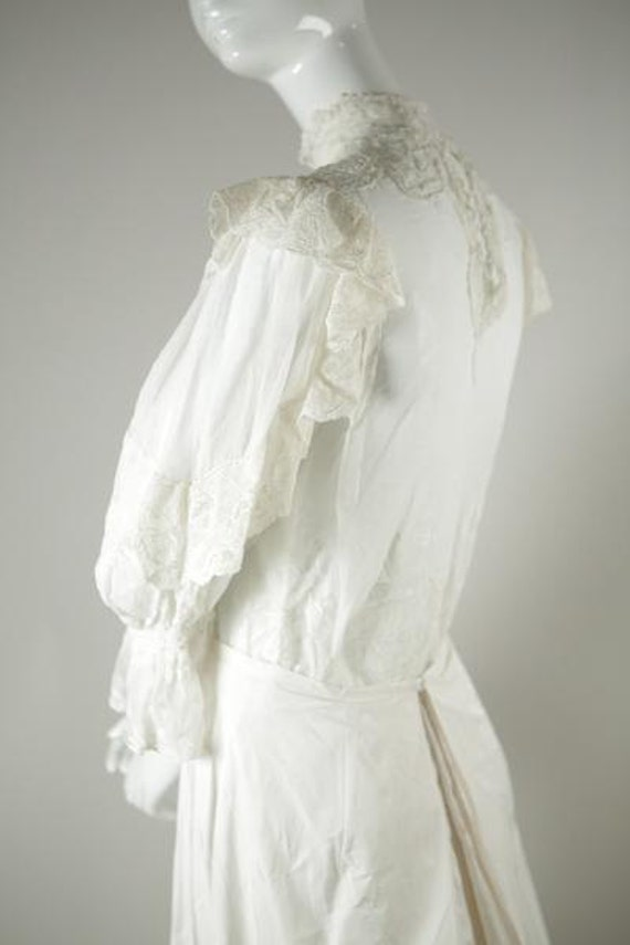 Edwardian Cotton Wedding Blouse - image 2