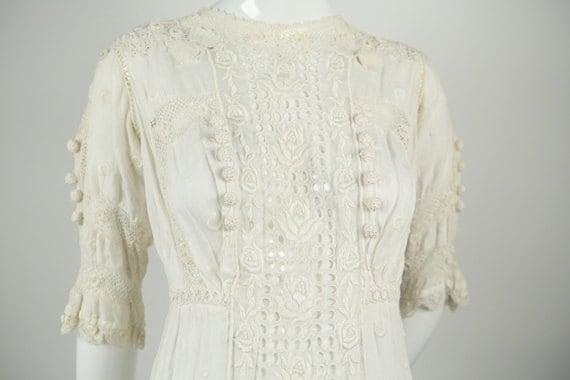 Edwardian Embroidered Wedding Dress