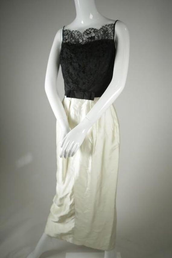 "1960s Black & White ""Audrey Hepburn"" Dress"