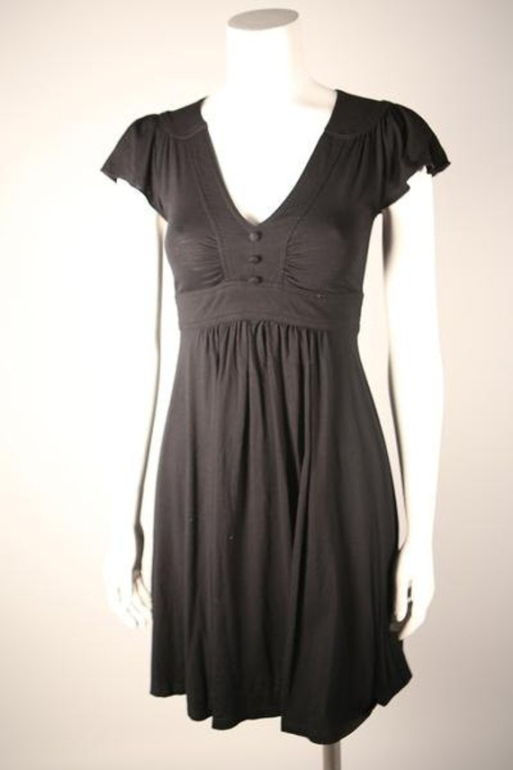 1970s Black Knit Dress
