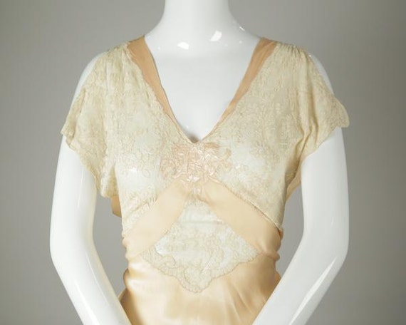 1930s Silk and Lace Bias Slip