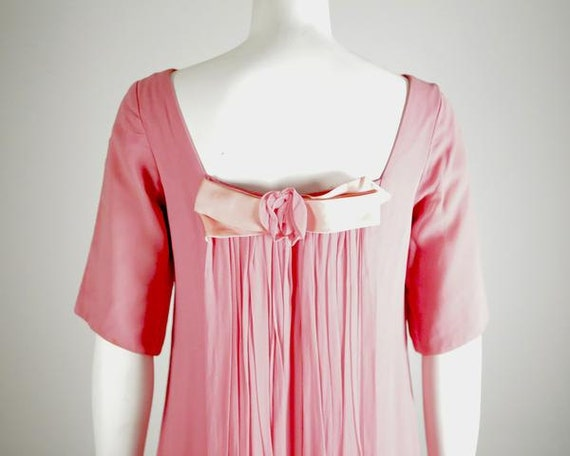 1960s Pink Silk Shift Gown