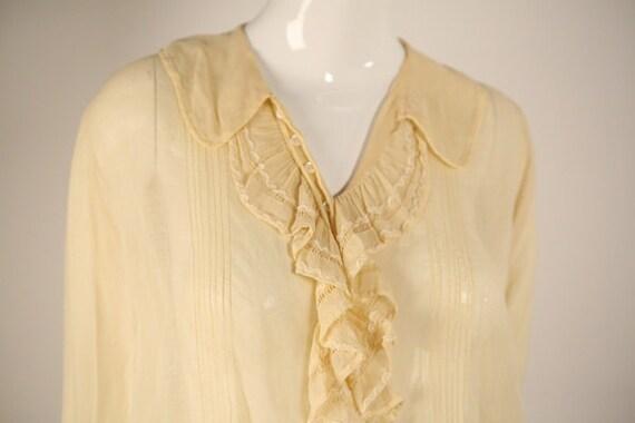 Edwardian Cotton Buttoned Blouse - image 5