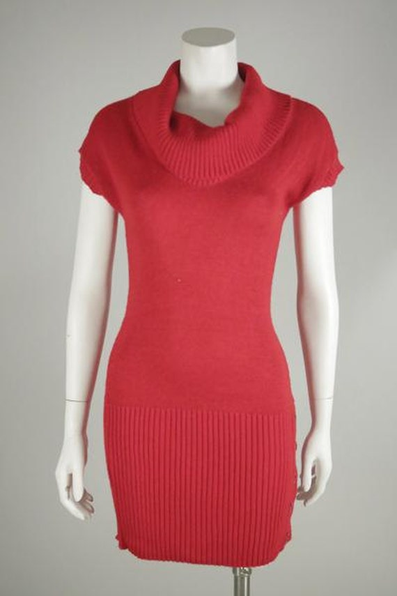 1980's Red Sweater Dress