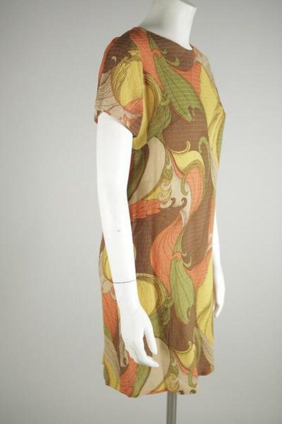 1960s Psychedelic Print Mod Mini Dress - image 4