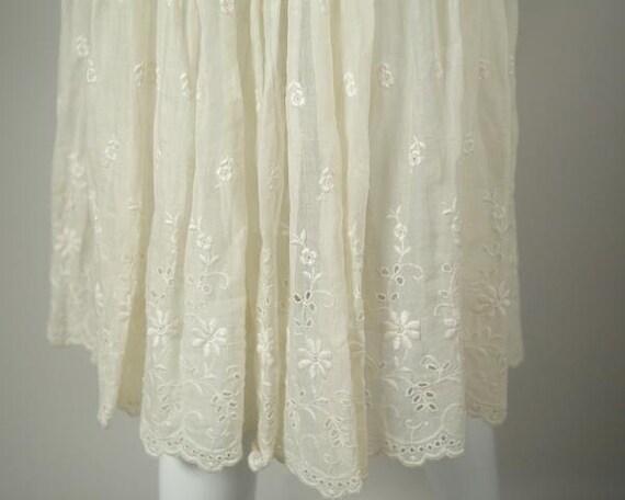 1950s Cotton Voile Tea Dress - image 5