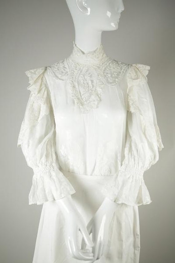 Edwardian Cotton Wedding Blouse