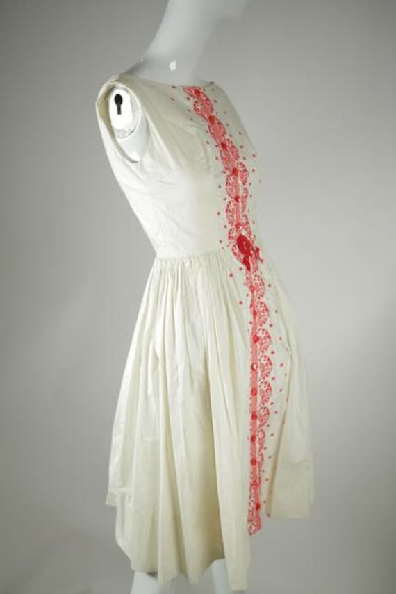 1950s Cotton Sundress - image 2