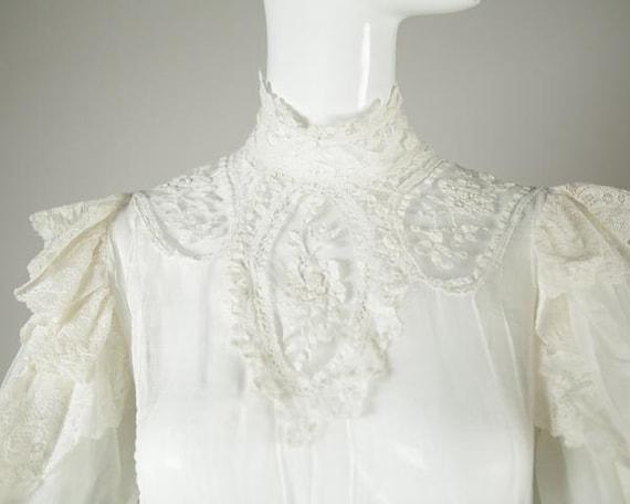 Edwardian Cotton Wedding Blouse - image 3