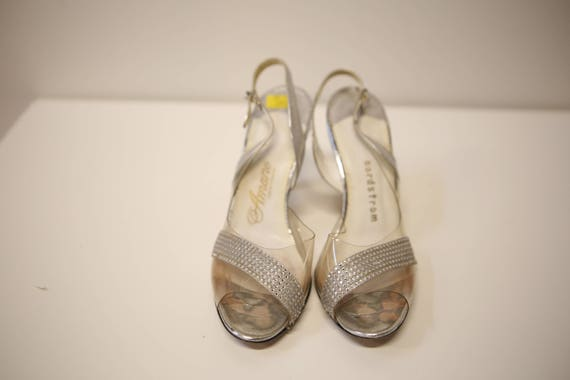 1930s vintage rhinestone/ silver shoes: size 7