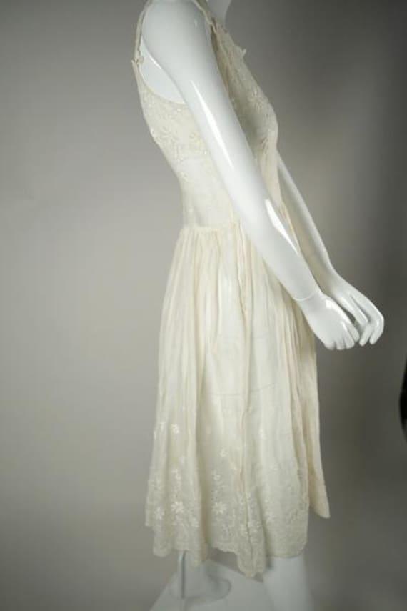 1950s Cotton Voile Tea Dress - image 2