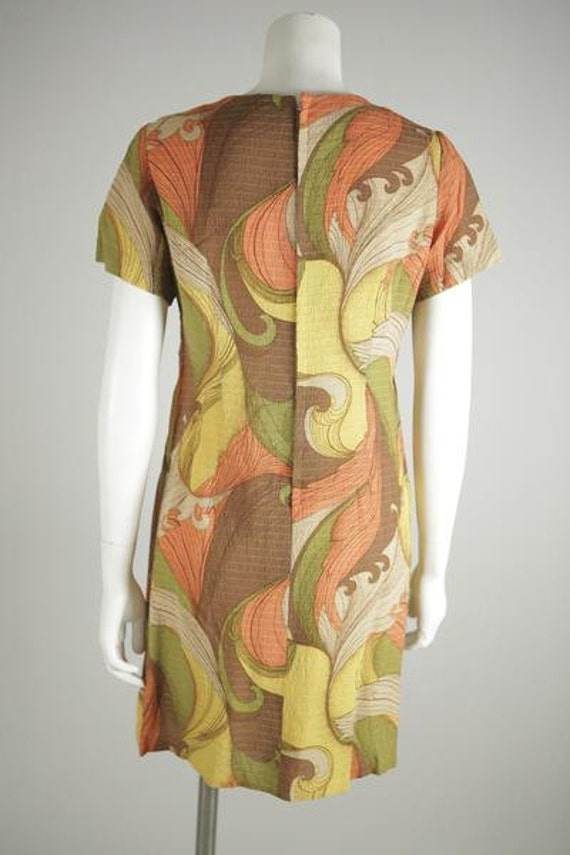 1960s Psychedelic Print Mod Mini Dress - image 3