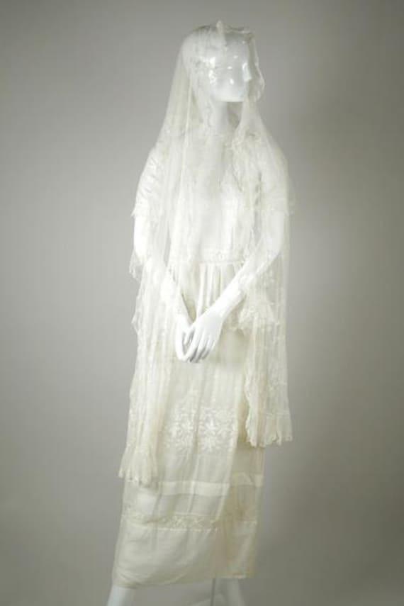 Silk Tulle Veil/ Shawl