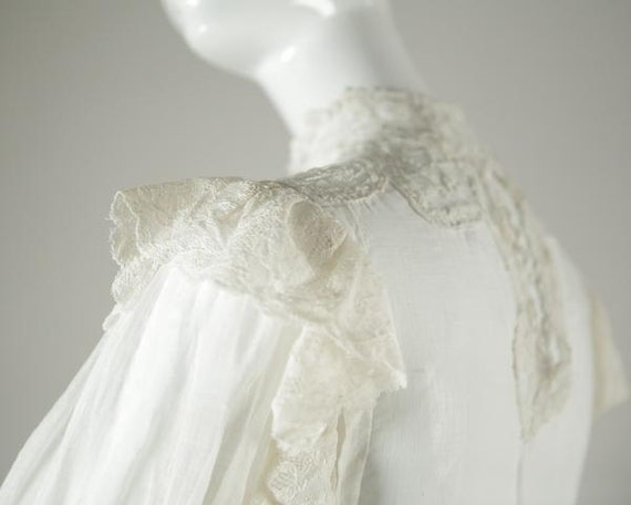 Edwardian Cotton Wedding Blouse - image 4