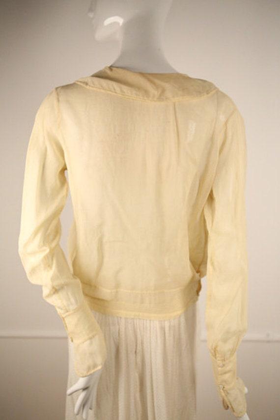 Edwardian Cotton Buttoned Blouse - image 4