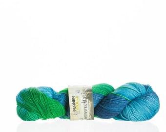 Hand coloured wool