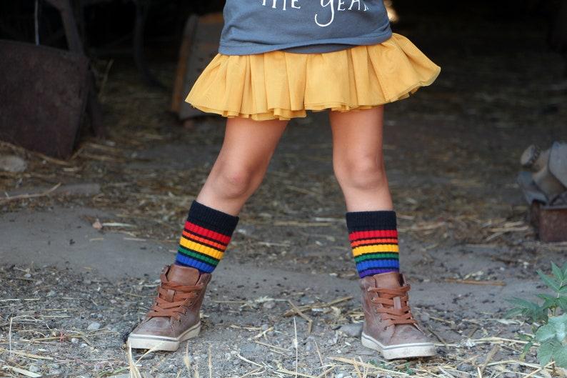1cb7a8e5b41 Kids Black Retro Rainbow Tube Socks | Kids Fashion Socks | Rainbow Tube  Socks | Pride Socks