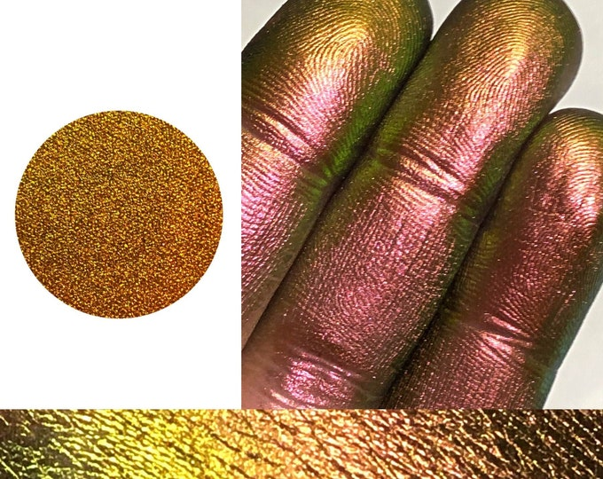 CONSEQUENCE - *Pressed* - Extreme Multichrome Colorshift Chameleon - multi chromecolor changing green rust pink maroon gold blue orange