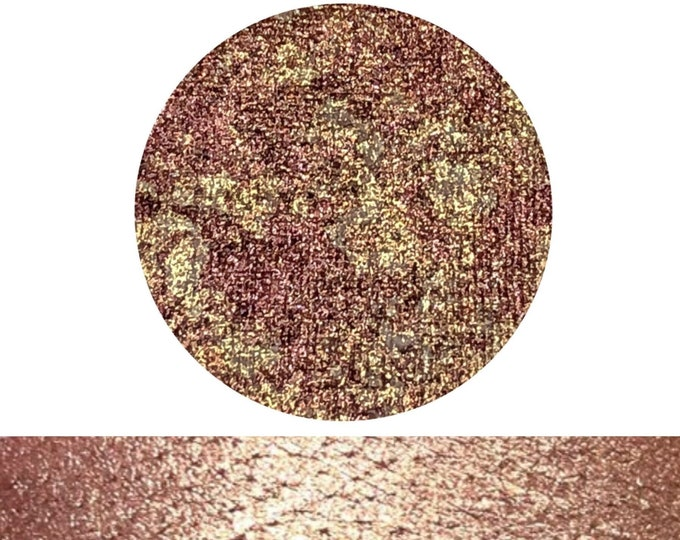 GOLDEN ROSE - Speckled Shadow - Pressed eyeshadow pigment - rose gold / sparkly gold