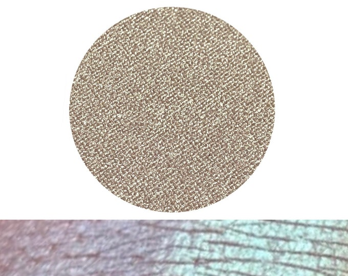 ATOMIC RAIN - Chameleon- Pressed Eyeshadow/ Highlight Pigment - Chameleon color shifting Green to Blue / Purple